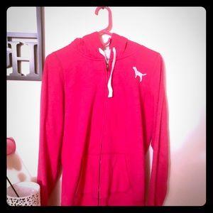 Heavy hooded sweatshirt from pink